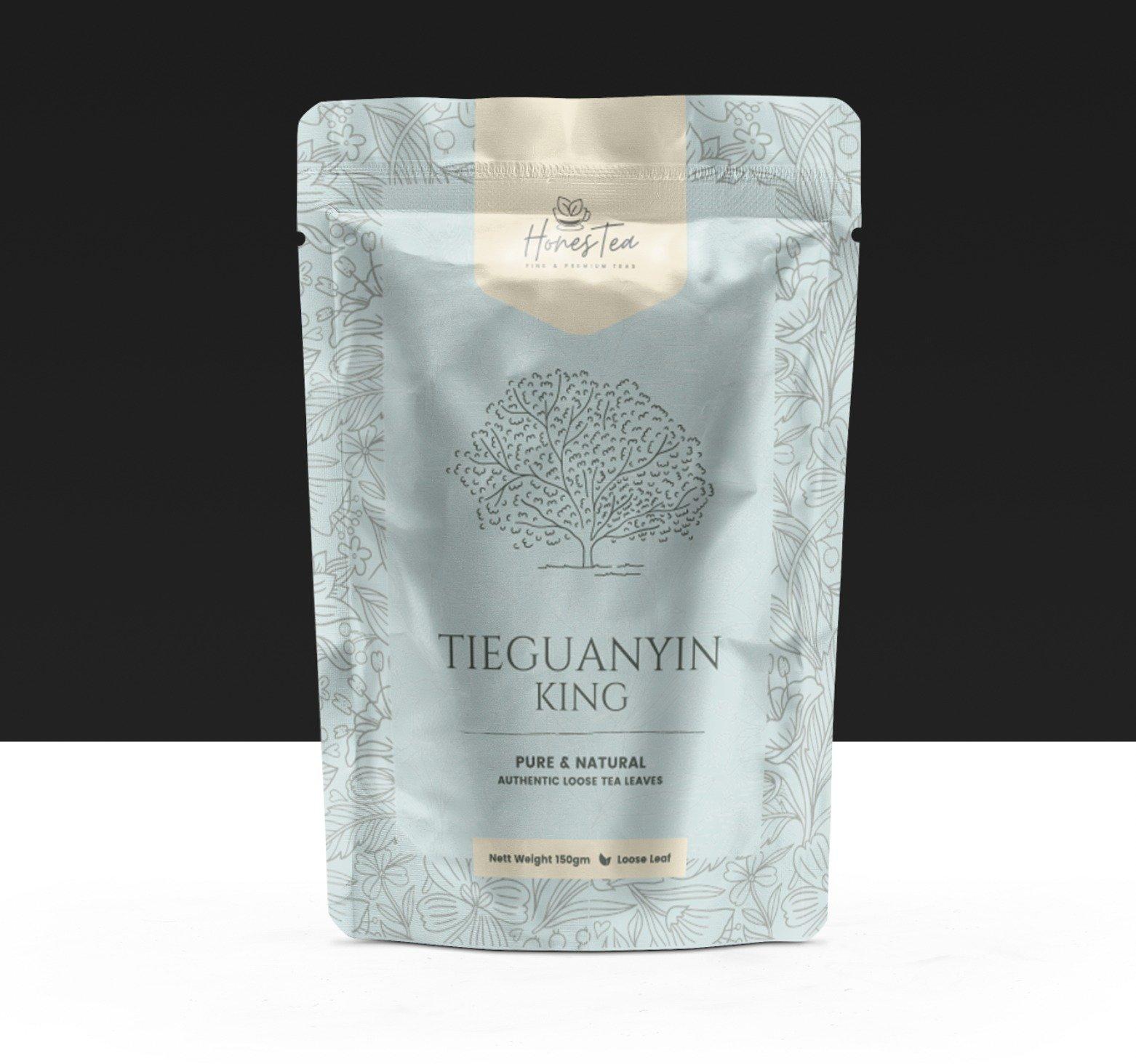 tea packaging with metallic effect